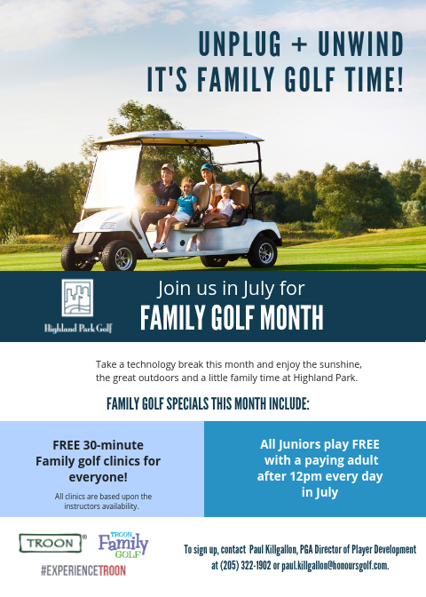 Family Golf Month at Highland Park
