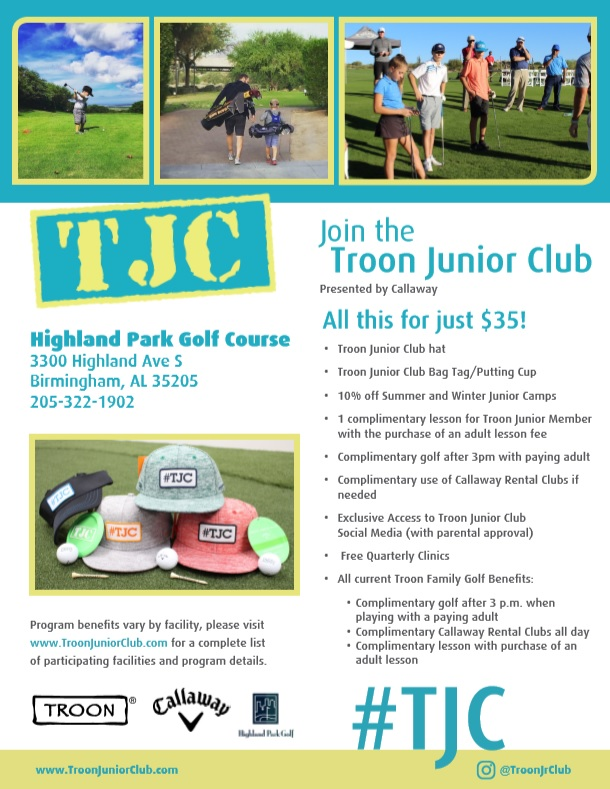 Troon Junior Club at Highland Park Golf Course